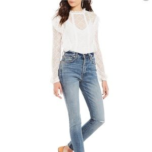 Intimately Free People Goldie White Lace Bodysuit